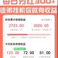 【享集传奇】玩传奇游戏拿分红日收益300元+